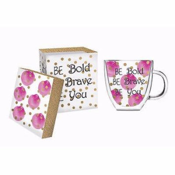 Cup-Coffee/Tea-Be Bold Be Brave Be You-Glass w/Gift Box (12 oz)