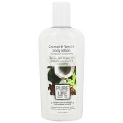 Body Lotion, Coconut & Vanilla, 14.9 oz, Pure Life Soap