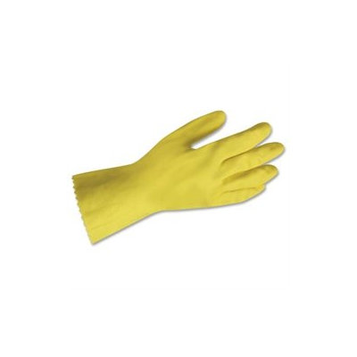 Impact Products Yellow Flock Lined Gloves, Medium, Bag Of 12