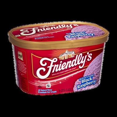 Friendly's Rich & Creamy Black Raspberry Premium Ice Cream