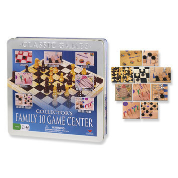 Cardinal Industries, Inc. Cardinal Ind Toys Collector's Family 10-Game Center In Aluminum Case