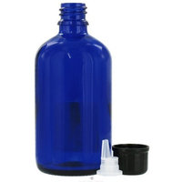 Sanctum Aromatherapy: Essential Oil Supplies: Empty Blue Glass Bottle with Dropper 100 ml