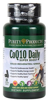 CoQ10 Daily Super Boost by Purity Products - 60 Vegetarian Capsules