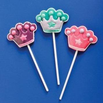 Rhode Island Novelty Princess Crown Lollipop Suckers (1 dz)