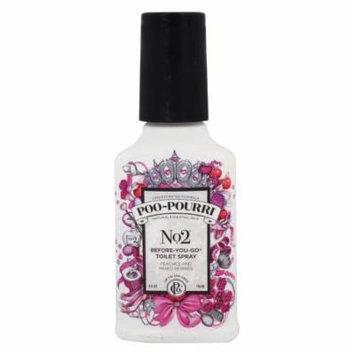 Poo~Pourri - No. 2 Before-You-Go Toilet Spray Peaches and Mixed Berries - 4 oz.