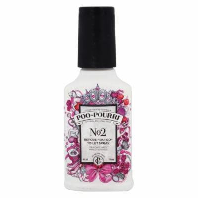 Poo~Pourri - No. 2 Before-You-Go Toilet Spray Peaches and Mixed Berries - 4 oz.