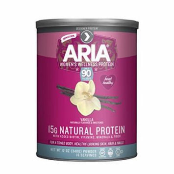 Designer Protein Aria Women's Wellness Protein, Vanilla 12 Ounce Canister