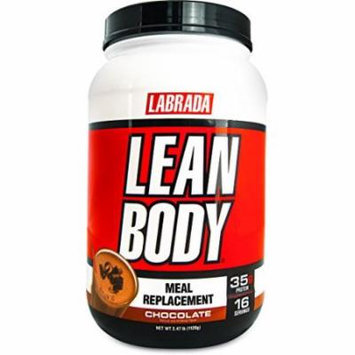 Labrada Nutrition Lean Body Hi-Protein Meal Replacement Shake, Chocolate, 2.47 Pound Tub