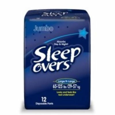 Absorbent Underwear Sleep Overs Pull On Large / X-Large Disposable Heavy Absorbency (#SLP05302, Sold Per Case)