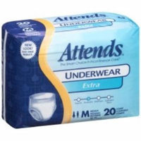 ATTENDS Absorbent Underwear Attends Pull On Medium Disposable Moderate Absorbency (#AP0720, Sold Per Pack)