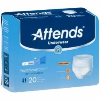 ATTENDS Absorbent Underwear Attends Pull On Small Disposable Heavy Absorbency (#APP0710, Sold Per Case)