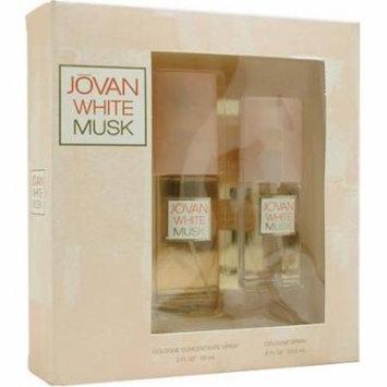 Jovan White Musk By Jovan For Women. Set-cologne Spray 2 Ounces & Cologne Spray .8 Ounces