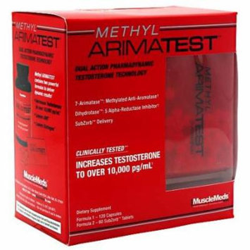 Methyl Arimatest By MuscleMeds, 120 Caps + 60 SubZorb Tabs
