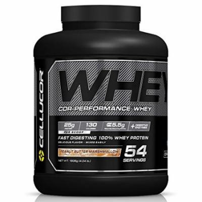 Cellucor Cor-Performance 100% Whey Protein Powder with whey Isolate, Peanut Butter Marshmallow/G4, 4.04 Pound