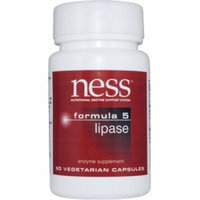 Ness Enzymes, Lipase #5 90 vcaps