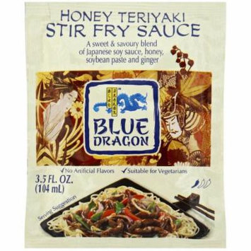Blue Dragon Honey Teriyaki Stir Fry Sauce, 3.5 fl oz, (Pack of 12)