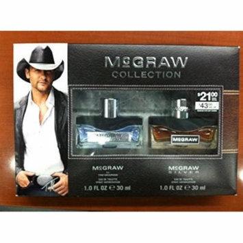 McGraw Collection Fragrance Set: McGraw by Tim McGraw Eau De Toilette Spray 1 oz, McGraw Silver Eau De Toilette Spray 1 oz