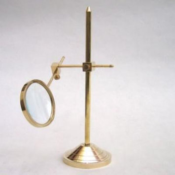 India Overseas Trading MR4816 - Solid brass magnifier stand. Adjustable