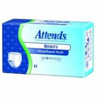 ATTENDS Incontinent Brief Attends Briefs 10 Tab Closure Large Disposable Heavy Absorbency (#BRW103072, Sold Per Case)