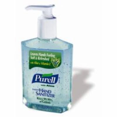 GOJO Hand Sanitizer with Aloe Vera 8 oz. Alcohol Pump Bottle (#9674-12, Sold Per Case)