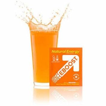 EBOOST Natural Energy Powder, Orange, 20 Packets