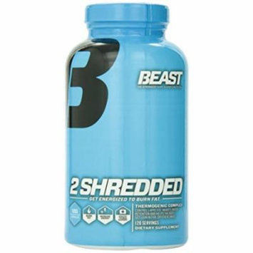 Beast Sports Nutrition, 2 Shredded Thermogenic Complex, Weight Loss Capsules, 120 Count