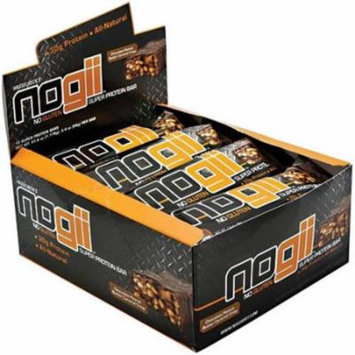 NoGii Chocolate Peanut Butter Crisp Super Protein Bars, 3.32 oz, 12 count