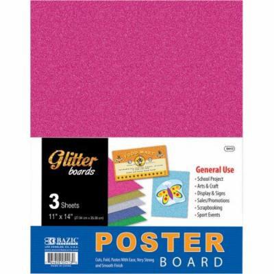 Bazic Glitter Poster Board (3 Pack)