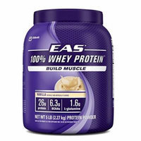 EAS 100% Whey Protein Powder, Vanilla, 5lb (Packaging May Vary)