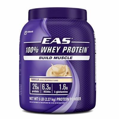EAS 100% Whey Protein Powder, Vanilla, 5lb (Packaging May Vary)