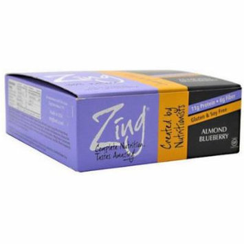 Zing Almond Blueberry Nutrition Bars, 1.76 oz, 12 count
