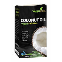 VeggieGold Coconut Oil Veggie Soft-Gel, 60 Count