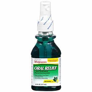 Walgreens Oral Relief Sore Throat Spray
