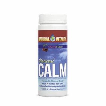 Natural Vitality Natural Calm Magnesium Anti Stress, Organic, Cherry, 8 oz