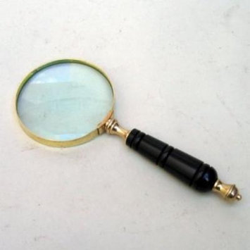 India Overseas Trading MR4811 - Handheld Magnifying Glass, Horn Handle
