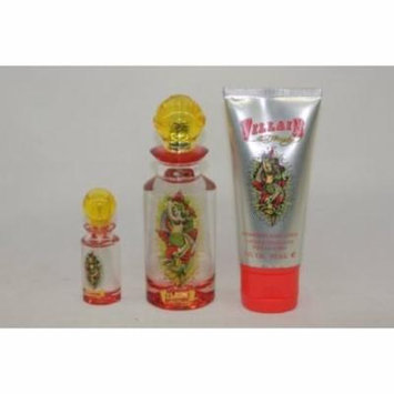 ED HARDY VILLAIN 2.5 oz 3PC GIFT SET WOMEN eau de parfum edp PERFUME P21