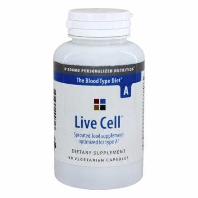 D'Adamo Personalized Nutrition - Live Cell A - 90 Vegetarian Capsules
