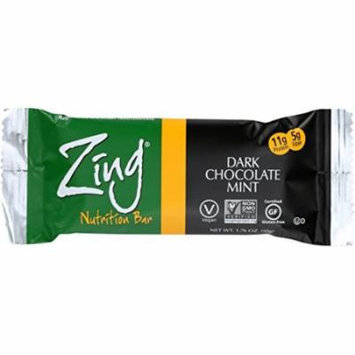 Zing Nutrition Bar, Dark Chocolate Mint,1.76 Oz. Bars, 12 Count