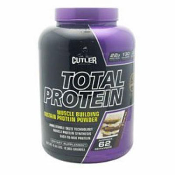 Cutler Nutrition Total Protein Muscle Building Sustain Protein Powder, S'mores, 4.5 Pound
