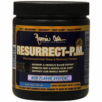 Ronnie Coleman Signature Series Resurrect-PM, Deep Restful Sleep and Anabolic Muscle Building Recovery Formula, Promotes Lean Muscle Growth and REM Sleep, Blue Razz Dream, 200 Gram