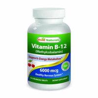 Best Naturals Vitamin B-12 as Methylcobalamin (Methyl B12), 6000 mcg 60 Sublingual Tablets