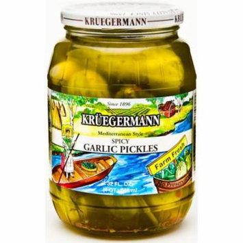 Kruegermann Spicy Garlic Pickles (32 floz)