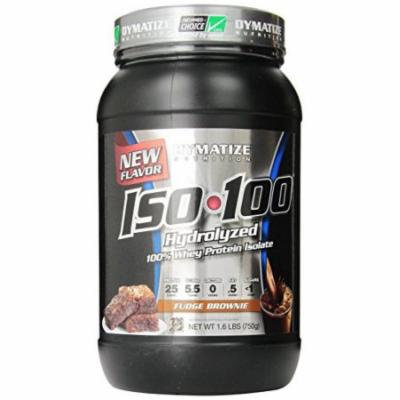 Dymatize Nutrition, ISO-100, Fudge Brownie, 1.6 Pound ( 726g)