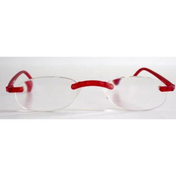 Calabria 715 Flexies Reading Glasses in Red (6.00)