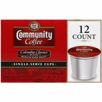Community Coffee Colombia Classico Medium-Dark Roast Single-Serve Cups, 12 count, 4.65 oz, (Pack of 10)