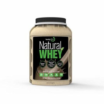 Bodylogix Natural Whey Protein Nutrition Shake, Natural Dark Chocolate, 1.85 Pound