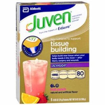 Juven Fruit Punch Arginine / Glutamine Supplement Powder, 0.85 Ounce Individual Packet - (8 Packet Special)