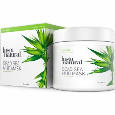 InstaNatural Dead Sea Mud Mask - Reduce Facial Pores - Organic for Oily & Acne Prone Skin, Blemishes & Complexion - Mine
