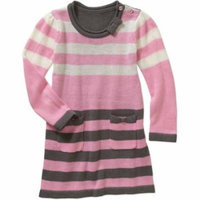 Healthtex Toddler Girls' Stripe A-Line Sweater Dress with Pockets