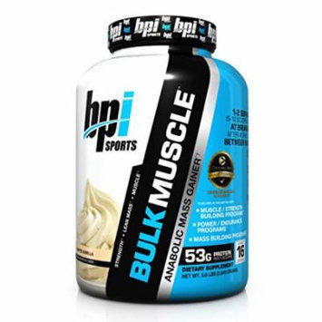 BPI Sports Bulk Muscle Protein Powder, Whipped Vanilla, 5.8 Pound